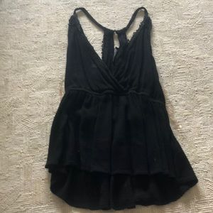 Kendall and Kylie Black Low cut Tank